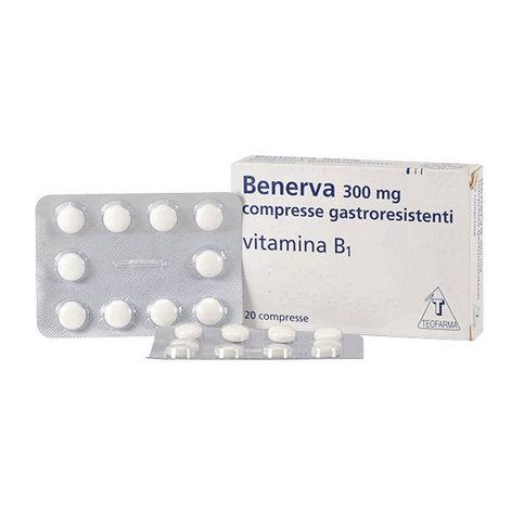 Купить Бенерва (тиамина хлорид в таблетках) 300мг №20 в Иркутске